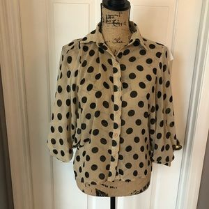 Polka Dot Button Up Blouse